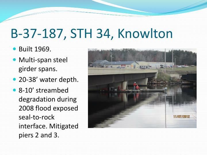 B-37-187, STH 34, Knowlton