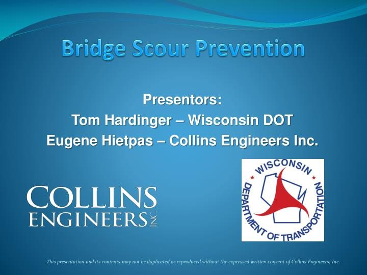 Bridge scour prevention