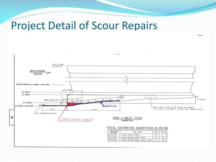 Project Detail of Scour Repairs