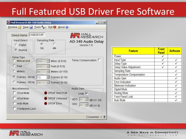 Full Featured USB Driver Free Software
