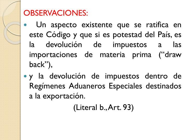 OBSERVACIONES: