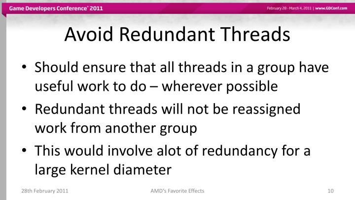 Avoid Redundant Threads