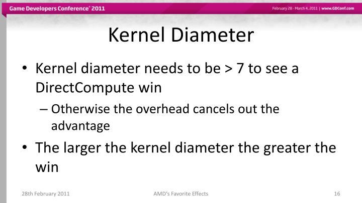 Kernel Diameter