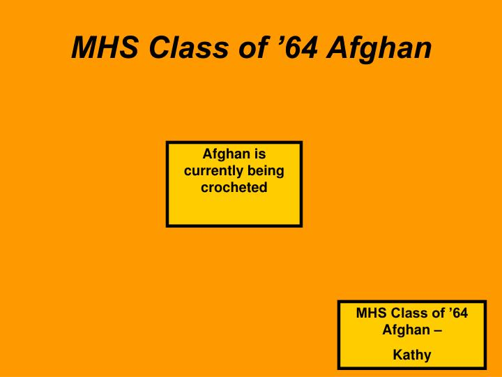 MHS Class of '64 Afghan