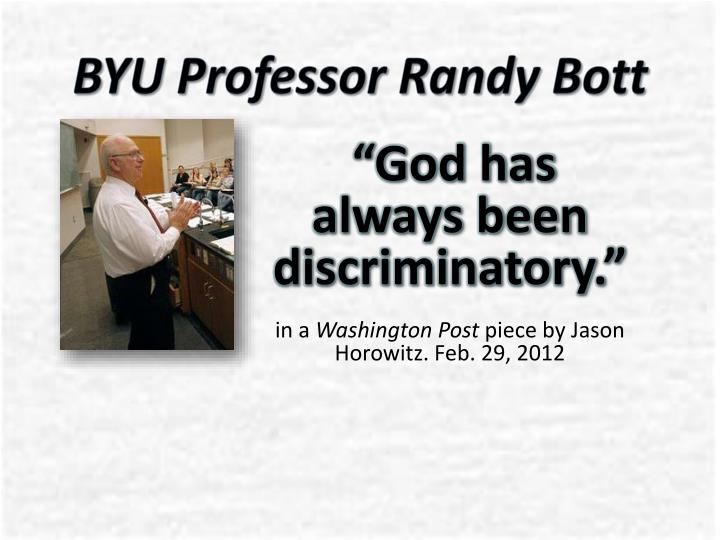 BYU Professor Randy