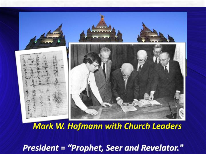 Mark W. Hofmann with Church Leaders