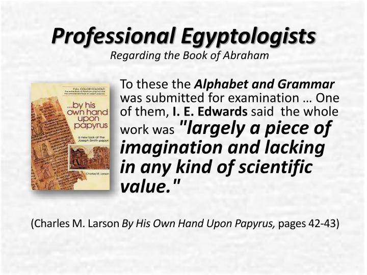 Professional Egyptologists