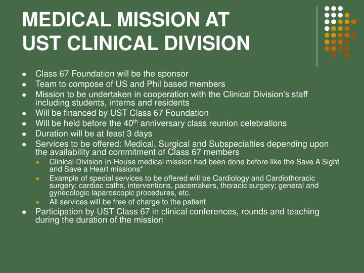 MEDICAL MISSION AT