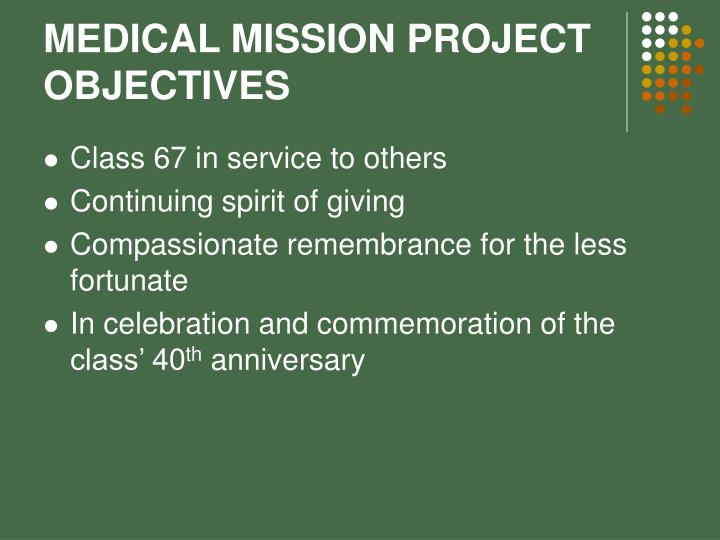 MEDICAL MISSION PROJECT