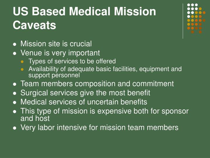 US Based Medical Mission
