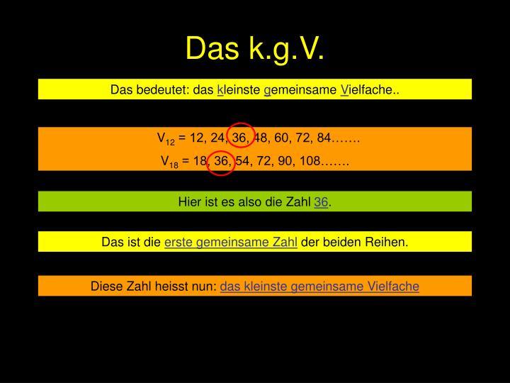 Das k.g.V.