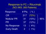 response to fc rituximab nci wg 300 patients