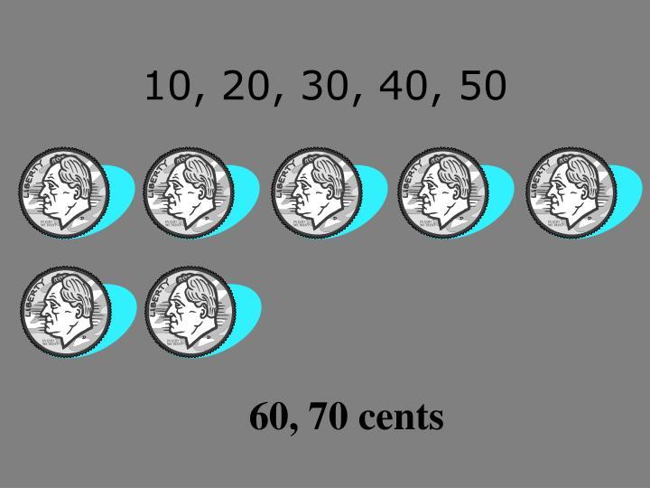 10, 20, 30, 40, 50