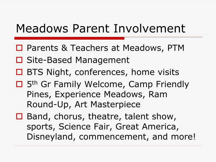 Meadows Parent Involvement