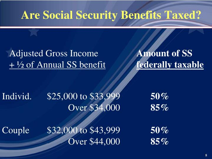 what part of social security benefits are taxable
