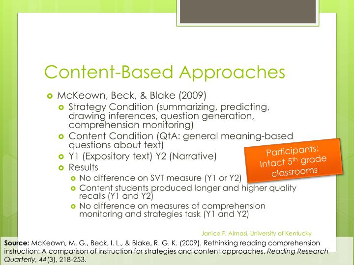 Content-Based Approaches