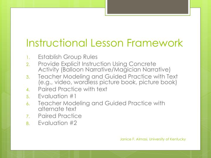 Instructional Lesson Framework
