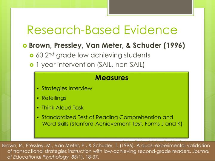 Research-Based Evidence