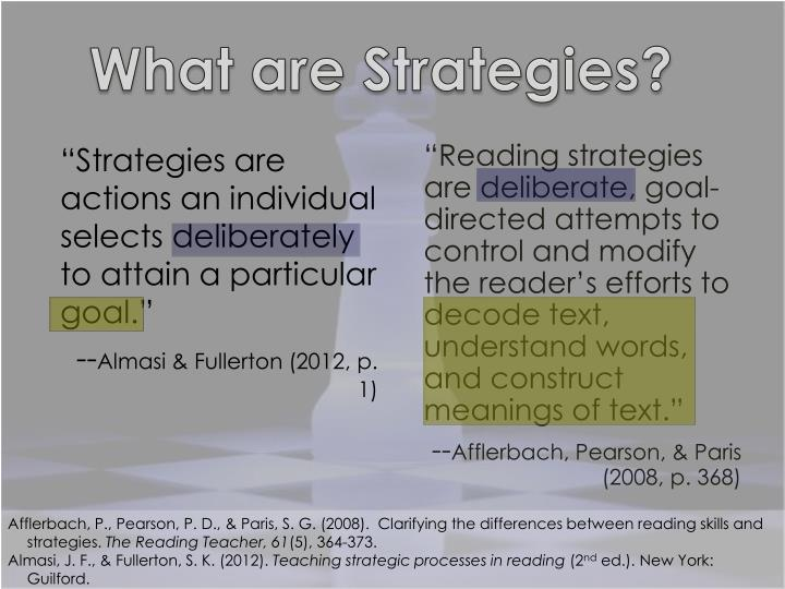 What are Strategies?