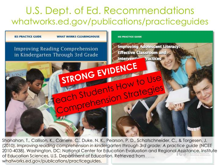 U.S. Dept. of Ed. Recommendations