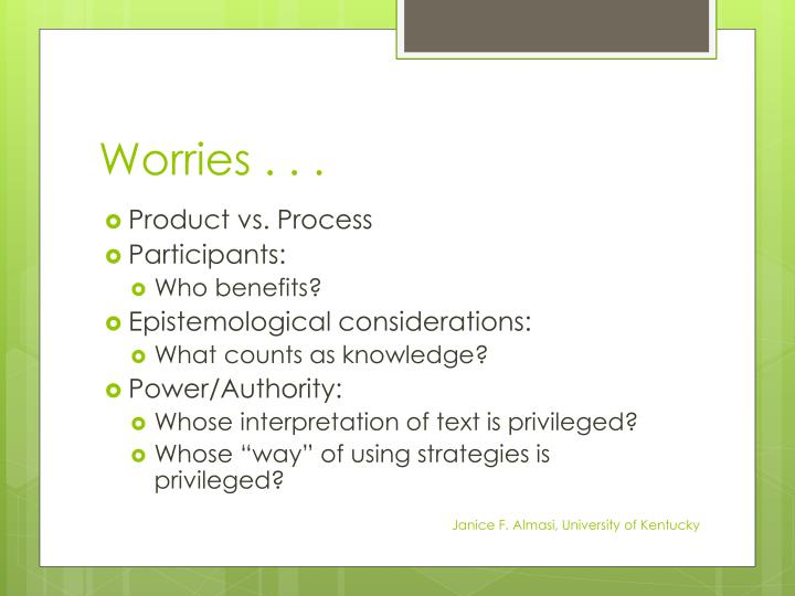 Worries . . .