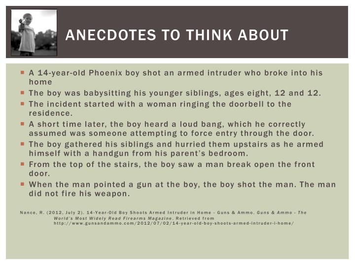 Anecdotes to think about