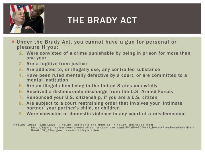 The Brady Act