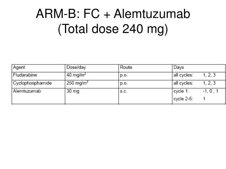 ARM-B: FC + Alemtuzumab