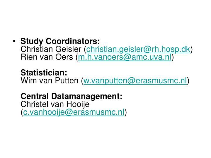 Study Coordinators:
