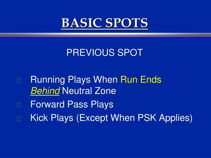 BASIC SPOTS