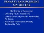 penalty enforcement on the try1