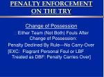 penalty enforcement on the try2