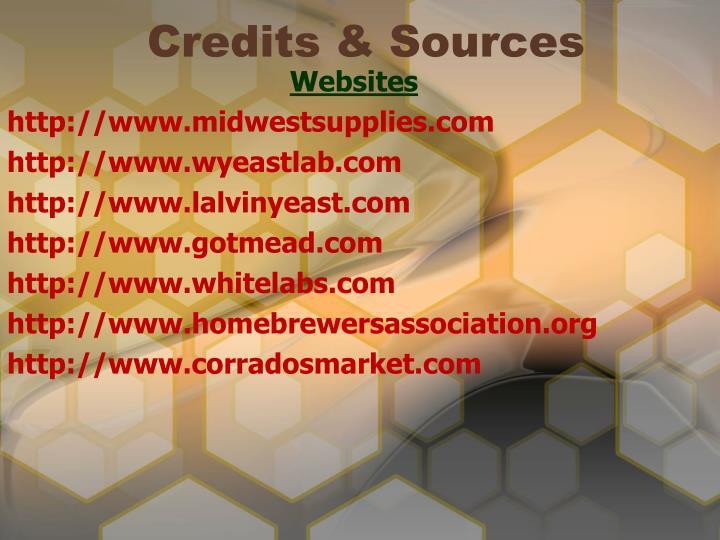 Credits & Sources