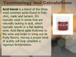 terminology and calculations2