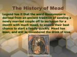 the history of mead3
