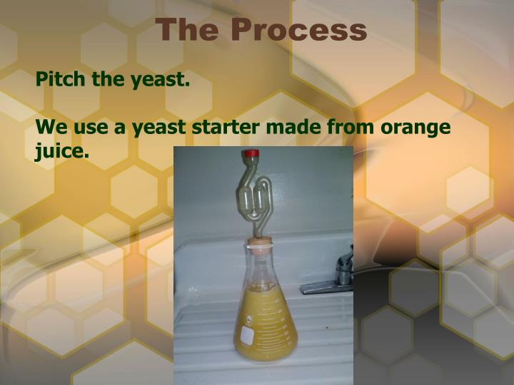 Pitch the yeast.