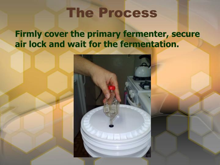 Firmly cover the primary fermenter, secure air lock and wait for the fermentation.