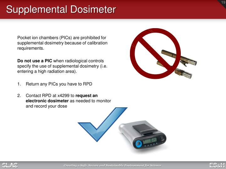 Supplemental Dosimeter