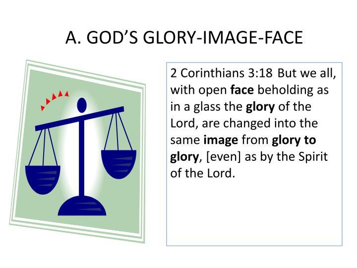 A. GOD'S GLORY-IMAGE-FACE