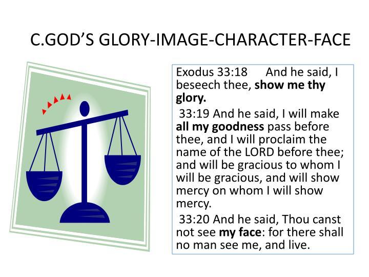 C.GOD'S GLORY-IMAGE