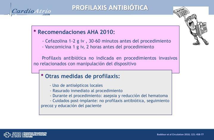 PROFILAXIS ANTIBIÓTICA
