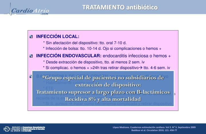 TRATAMIENTO antibiótico