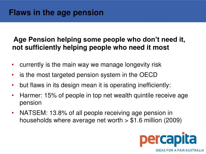 Flaws in the age pension