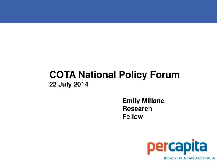 COTA National Policy Forum