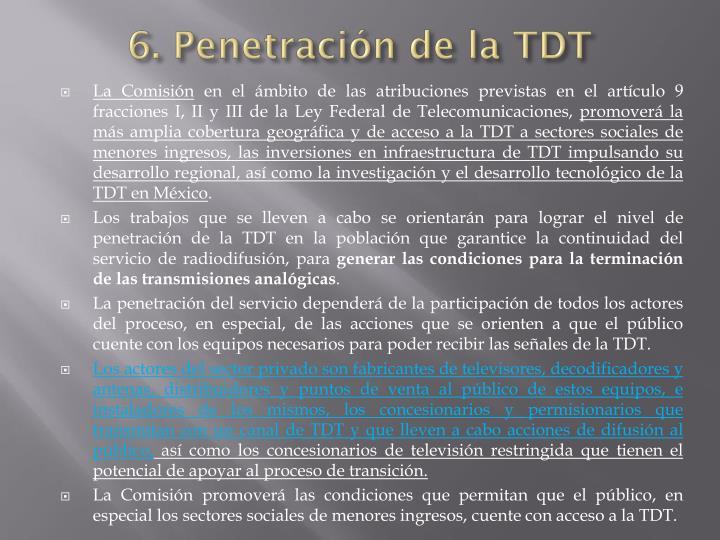 6. Penetración de la