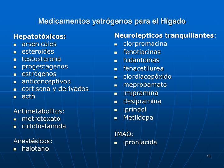 Hepatotóxicos: