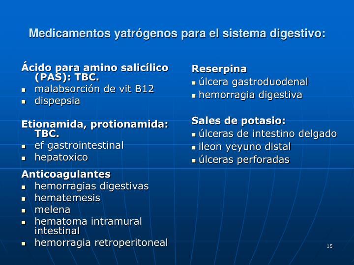 Ácido para amino salicílico (PAS): TBC.