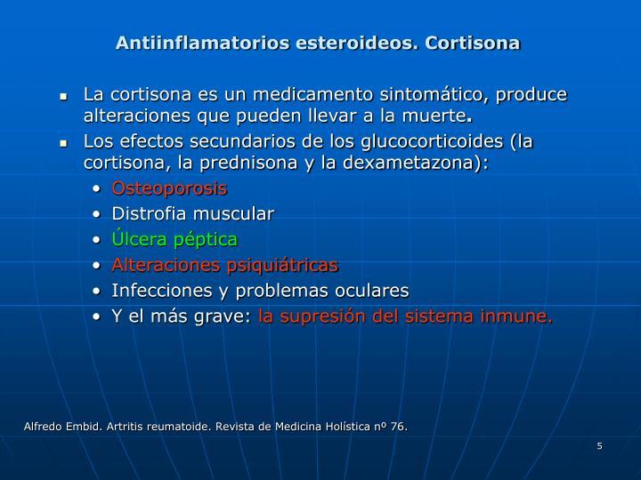 Antiinflamatorios esteroideos. Cortisona