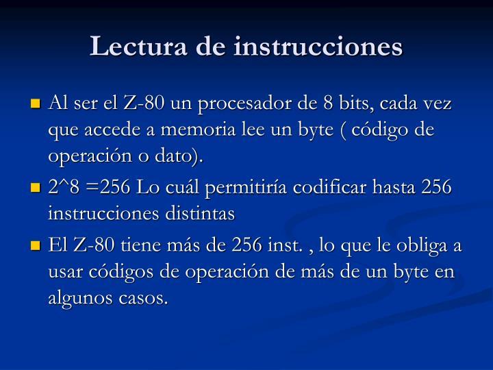 Lectura de instrucciones