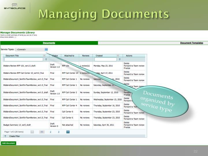 Managing Documents